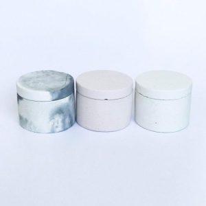 Concrete jewellery box (white)
