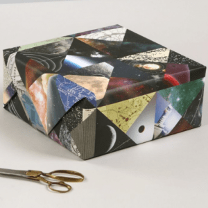 Luxury patchwork gift wrap (pk of 20) – Space