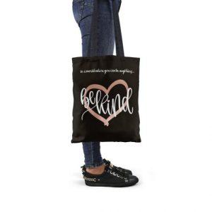 Be Kind Black Tote Bag