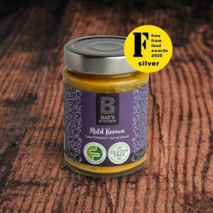Mild Korma Stir-in Sauce pack of 6 jars - 2 Bays Kitchen Mild Korma Wood Award 980x980 1 500x500