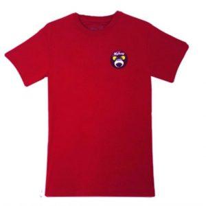 Monkey Face T-shirt Red Burgundy - 2 Camiseta roja volcan kahuna store hombre joven algodon mono gafas surf skate snow 500x500