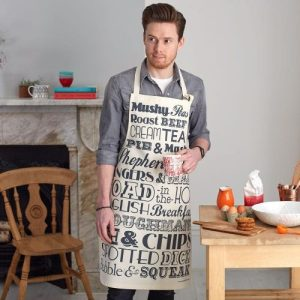 English Dinner – charcoal Apron – pack of 6