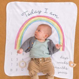 Rainbow Baby Milestone Blanket