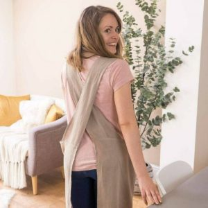 Cross Back Linen Apron – Natural
