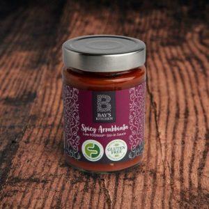 Spicy Arrabbiata Stir-in Sauce pack of 6 jars - 5 Bays Kitchen Spicy Arrabbiata Wood 980x980 1 500x500