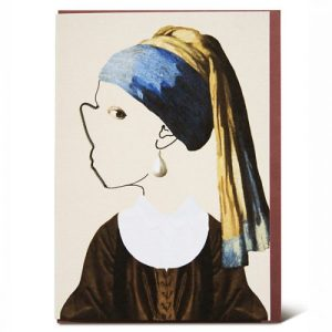 GIRL WITH THE PEARL GREETING CARD