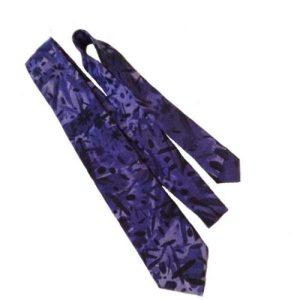 Purple Fireworks Tie – Unique Handmade Satin Twill Tie