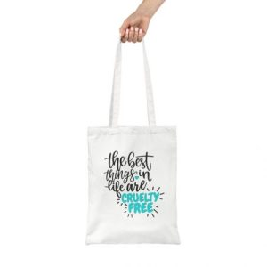 Cruelty Free White Tote Bag