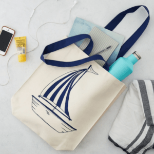 Anchor and Boat Canvas Bag – pack of 6