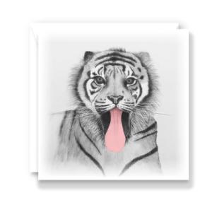 Cheeky Tiger Greeting Card