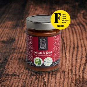 Tomato & Basil Stir-in Sauce pack of 6 jars - 9 Bays Kitchen Tomato Basil Wood Award 980x980 1 500x500