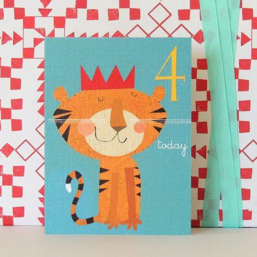 AW04 mini age four tiger card