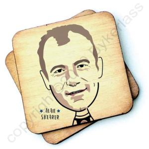 Alan Shearer Character Wooden Coaster – RWC1 – Pack of 6
