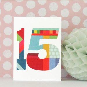 BTW15 mini number fifteen card - BTW15c 500x500