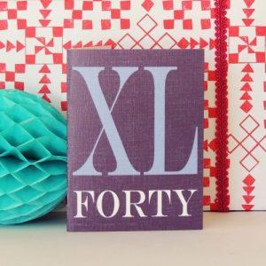 BTW45 mini roman numerals forty card