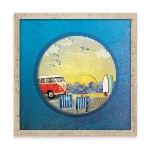 """Wall Art - 'Beach Break' 12"""" x 12"""" Print - Beach break framed print 4 500x500"""