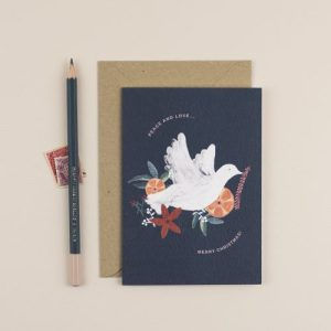 Peace & Love, Merry Christmas Greeting Card - ChloeHall HB 14 500x500
