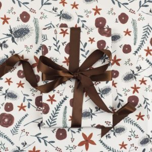 Christmas Florals Gift Wrap