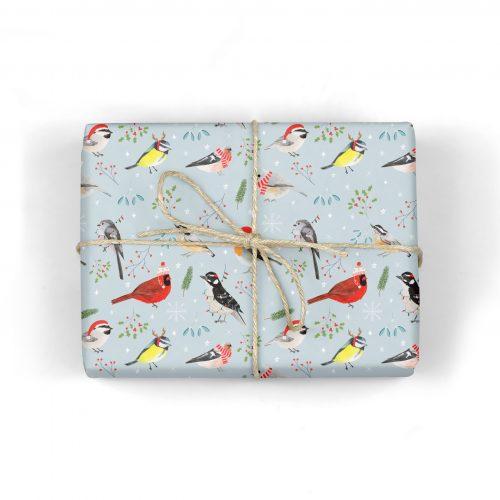 Christmas Birds Gift Wrap