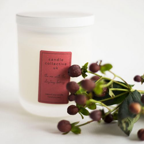 Christmas berries luxury candle