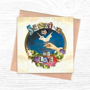 Greeting Cards - The Cut Out Collection - Sending All My Love - Cut Out 1 creoate 500x500
