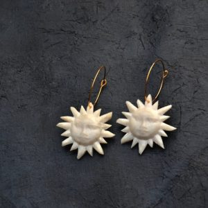 Sunface Lightweight Hoop Earrings - DSC 0273 500x500