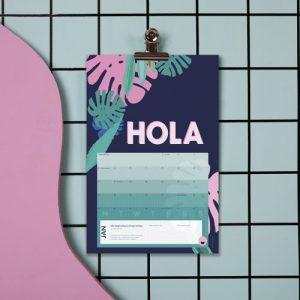 Calendar 2021 - The Creative Calendar - Hola Single LR 500x500
