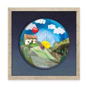 "Wall Art - 'Home' 12"" x 12"" Print - Home framed print 1 1 500x500"
