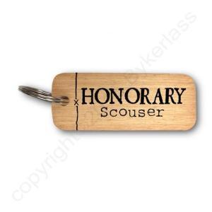 Honorary Scouser Rustic Wooden Keyring – RWKR1 – Pack of 6