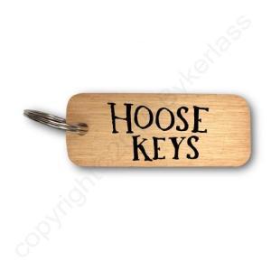 Hoose Keys Rustic Wooden Keyring – RWKR1 – Pack of 6