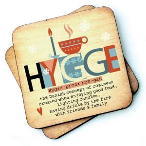 Hygge Rustic Wooden Coaster - RWC1 - Pack of 6 - Hygge Coaster