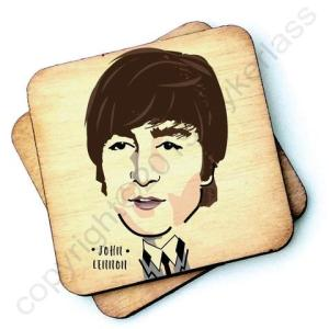 John Lennon Character Wooden Coaster – RWC1 – Pack of 6