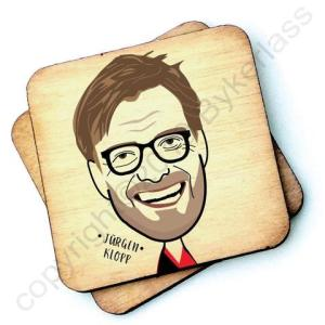 Jurgen Klopp Character Wooden Coaster – RWC1 – Pack of 6