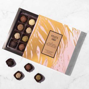 The chocolatiers milk, white and dark chocolate truffle selection (16 pcs)