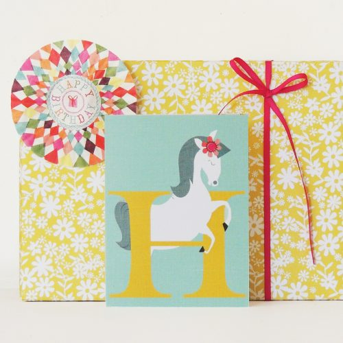 LTW08 H is for Horse card