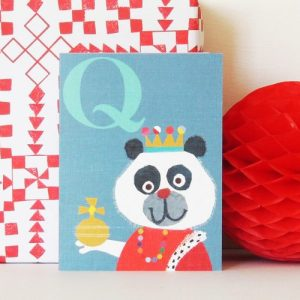 LTW17 mini Q is for Queen card