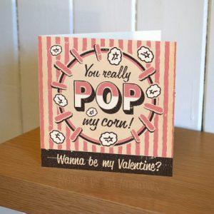 Matchbook Valentines Card, Pink