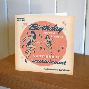 Matchbook Cocktail Lounge Birthday Card