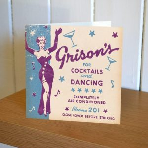 Matchbook Cocktails and Dancing Birthday Card