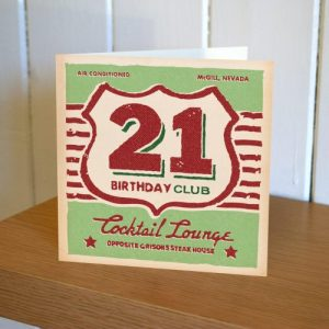 Matchbook 21st Birthday Card