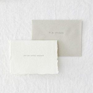 Bundle of 20 Mini Letterpress Greetings Cards