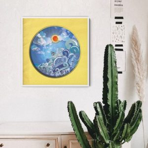 "Wall Art - 'Surfer Girl' 12"" x 12"" Print - Mockup surfer girl 500x500"