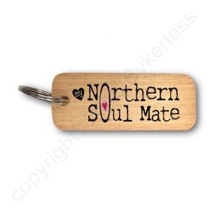 My Northern Soulmate Rustic Wooden Keyring – RWKR1 – Pack of 6