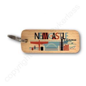 Newcastle & Gateshead Rustic Wooden Keyring – RWKR1 – Pack of 6