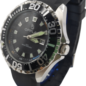 OPPLAV ABYSS Analog Watch, 41.5 mm steel case Submersible 10 ATM