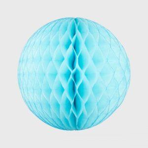 Honeycomb Ball 25cm, Sky Blue