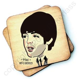 Paul McCartney Character Wooden Coaster – RWC1 – Pack of 6