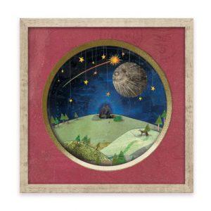 "Wall Art - 'Starry Lovers' 12"" x 12"" Print - Starry lover framed print 6 500x500"