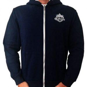 Blue navy zip sweatshirt