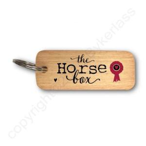 The Horse Box Rustic Wooden Keyring – RWKR1 – Pack of 6